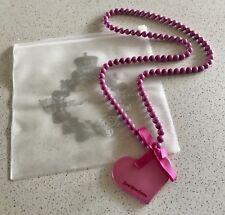 Zoé Bonbon Necklace Pink Love Heart Themed Authentic French Jewellery RRP$117