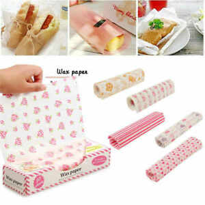 100 PCS Wax Paper Food Wrapping Greaseproof Cake Packaging Sandwich Picnic Tools