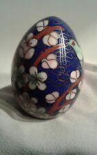 Cloisonne Egg Floral / Dove Multi-Color Vintage