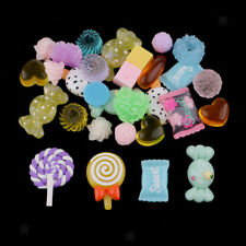 30 Assorted Kawaii Desserts Sweets Candy Food Cabochon Resin Flatback Crafts