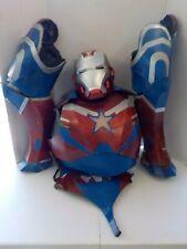 N Custom made IRON MAN IRON PATRIOT Costume Cosplay armor suit helmet legs chest