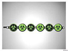 Biohazard Atomic Zombie Green 8 inch bracelet w/fold over clasp
