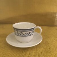 Johnson Brothers Small Mini Expresso blue and white Cup/Saucer England