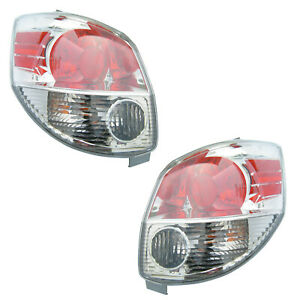 Tail Lights Rear Back Lamps Pair Set for 05-08 Toyota Matrix Left & Right