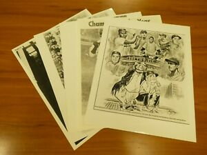 Lot of 5 Different Brooklyn Dodgers 11x14 Glossy Photos
