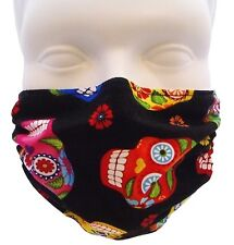 Colorful Skulls Mask by Breathe Healthy. For Dust, Pollen & Allergy Relief