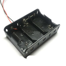 1 PCS 3 x D Size Cell Battery Batteries Holder Box  Case With Wire Lead