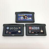Lot of 3 Nintendo Game Boy Advance GBA Games Harry Potter Lego Star Wars II