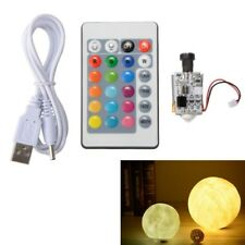 Circuit Board USB Remote Control 16-Color DIY 3D Printing Moon Light Night TE783