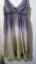Pure Silk Monsoon Silver Ombre Sleeveless Dress, sz14. Stunning!