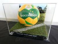 ✺New✺ Football DISPLAY CASE - Socceroos A-League EPL Soccer Memorabilia Lego