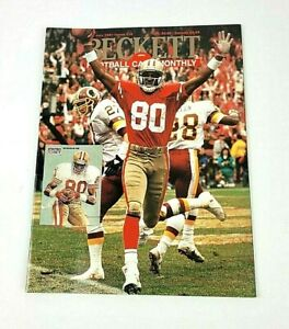 Beckett Football Card Monthly Jerry Rice San Francisco 49'ers July 1991 #16