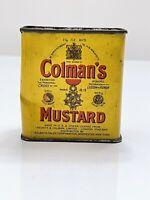 Very Cool Colman's Mustard Spice Tin w/ Bulls Head Advertising Label Logo