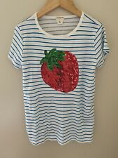 Crewcuts Strawberry girls shirt size 12 stripes