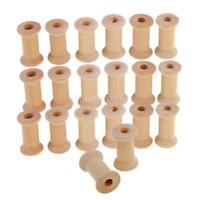 100Pcs Wholesale Wooden Empty Thread Spools Reels Bobbins for Sewing Ribbons