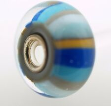 Authentic Trollbeads Beach Ball 61462 Glass Silver Charm Bead