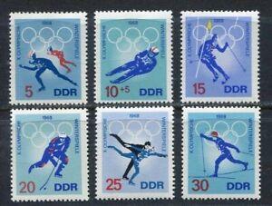 31458) DDR 1968 MNH** Olympic Games, Grenoble 6v.