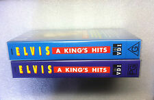 "2 x BRAND NEW VHS MUSIC VIDEOTAPES, ELVIS PRESLEY ""A KING'S HITS"" VOL. 1 & 2"