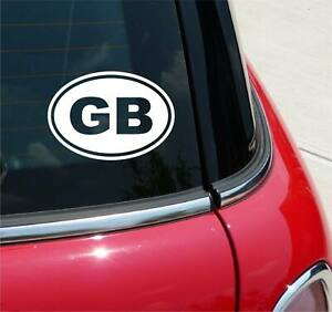Euro GB Great Britain Country Code Decal Sticker Car Wall Oval NOT Two Colors
