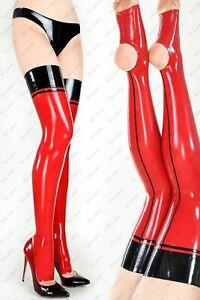 871 Latex Rubber Gummi Stocking socks customized stirrup leggings 0.4mm catsuit