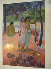 "Vintage Gauguin (1848-1903) Full Color Print ""The Call (l'appel)"", 10"" X 7 3/4"""