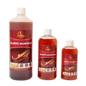100% Pure Atlantic Salmon Oil For Dogs, Cats, Horses, Ferrets Pure Omega 3 & 6