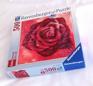 """Ravensburger 'Red Rose' 500 Piece Jigsaw Puzzle 19.7""""x 19.7""""  2007"""