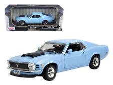 1/18 MotorMax 1970 Ford Mustang Boss 429 Diecast Model Car Blue 73154