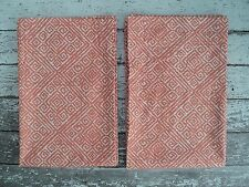 "Target THRESHOLD Aztec Diamond Set of 2 Curtain Panels Orange Coral 84""L EUC"