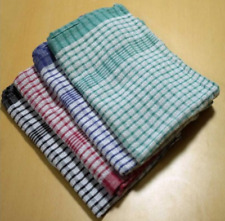 10 x 100% Cotton Tea Towels Commercial Catering Quality Kitchens Bars Quick Dry