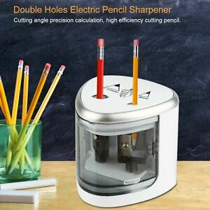 Spitzmaschine Elektrischer Spitzer Elektrisch Bleistift  2Holes Anspitzer DE