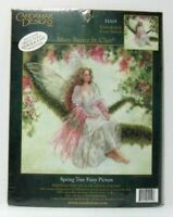 Spring Tree Fairy Picture Embellished Cross Stitch KIT 51419 Candamar Designs