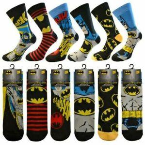 Batman Socks Men's Boys Character DC Adult Size 6-11 Official  Novelty DC Theme