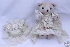 "Vintage Wedding Bride Bear Teddy, 13"" Collectibles Bridal"
