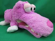 BIG PINK FUCHSIA FLOPPY OPEN MOUTH MICROBEADS PILLOW HIPPO PLUSH STUFFED ANIMAL