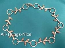 Silver Plated Bracelets CUTE LEAF Charms WHOLESALE 10