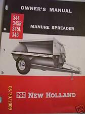 Original New Holland Oper Manual 344 345 346 Spreaders