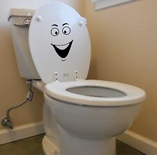 Smiley face decal for toilet laptop car funny bathroom potty training sticker