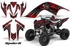 YAMAHA RAPTOR 700 GRAPHICS KIT DECALS STICKERS CREATORX SPIDERX RED BLACK