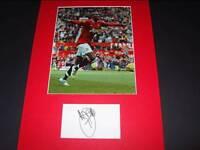 Ashley Young Man Manchester Utd signed card & photo autograph COA AFTAL Dealer