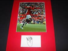 Ashley Young Man Manchester Utd signed card & photo autograph COA AFTAL Dealer