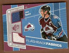 Joe Sakic 2007-08 SPX Jersey 2clr Patch Avalanche 25/25