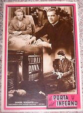 FOTOBUSTA, LA PORTA DELL'INFERNO (EDGE OF DOOM), ROBSON, FILM NOIR RKO POSTER