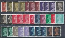 GB QE2  1967 MACHINS - SPECIALIZED SET OF 32 VALUES, UN/MINT, JUST AS ISSUED