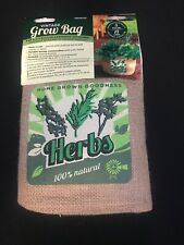 Panaca Vintage HERB Grow Bag -Fun and attractive Gardening Anywhere!  NEW!