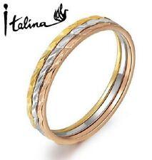 Triple conjunto de anillo 18K Oro Amarillo, Rosa Oro, Platino: L, N