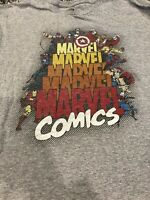 Mens Clothing MARVEL COMICS Gray T Shirt Size XL