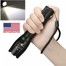 Tactical 350000LM Zoomable Focus  LED Flashlight 18650 High Power Torch Light