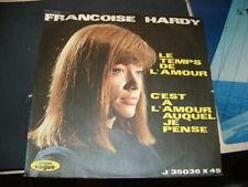 """FRANCOISE HARDY """"LE TEMPS DE L'AMOUR- C'EST A L'AMOUR AUQUEL JE PENSE """" ITALY'63"""