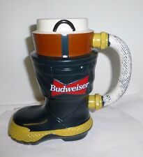 Budweiser Fire Fighter's Boot Stein  CS321  FREE SHIPPING! Great Fireman's GIFT!
